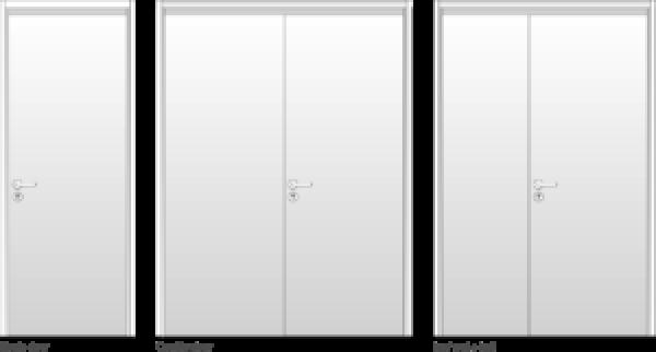 Steel Door Leaf Configurations