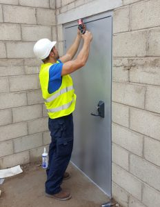 Flood Defence Door Fitting