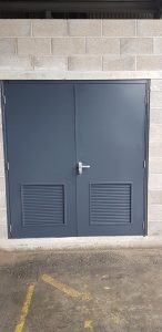 Steel Substation Doors - Double